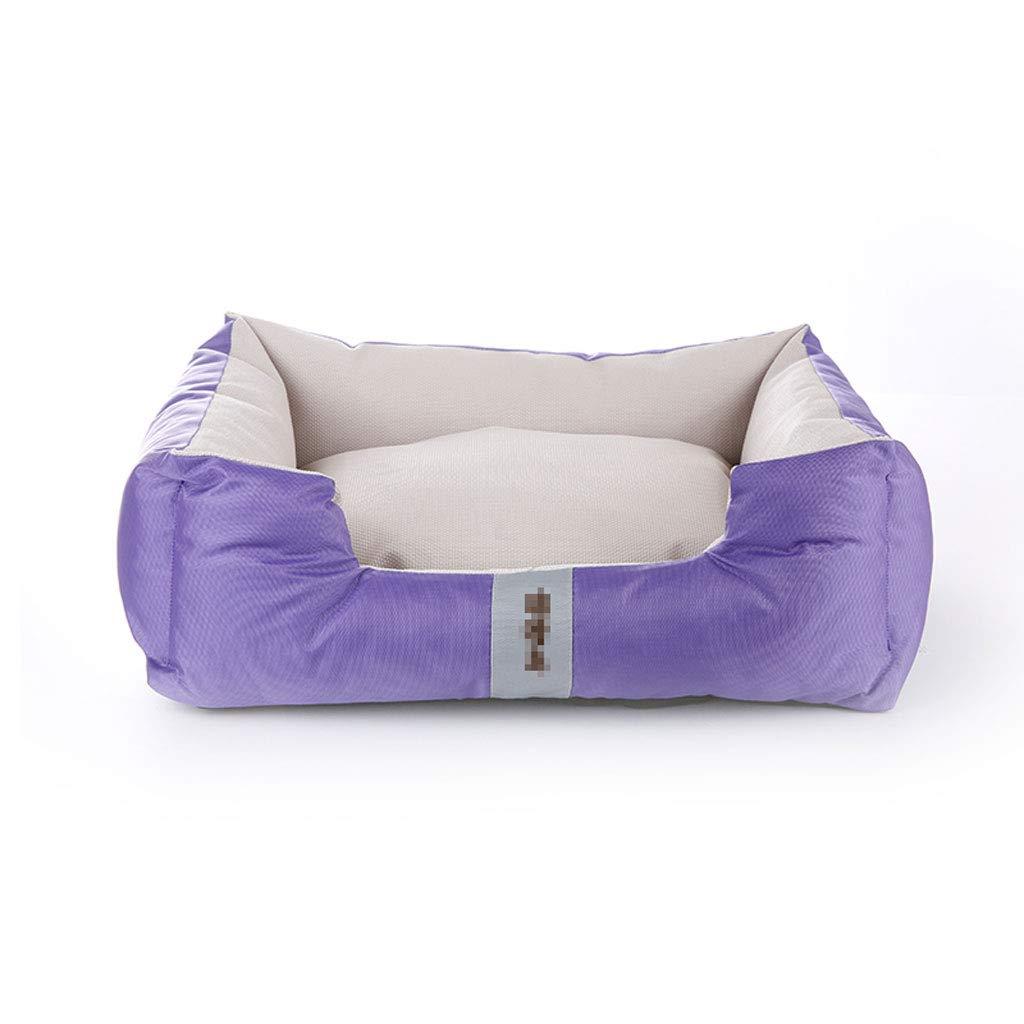 PURPLE JKL Dog Bed Pet Bed Cat Nest,Teddy Kennel Mattress Soft Washable Fleece Fur Cushion Warm Luxury Pet Nest Removable LinerKeep Warm in Winter,78×60×21 Cm (color   PURPLE)