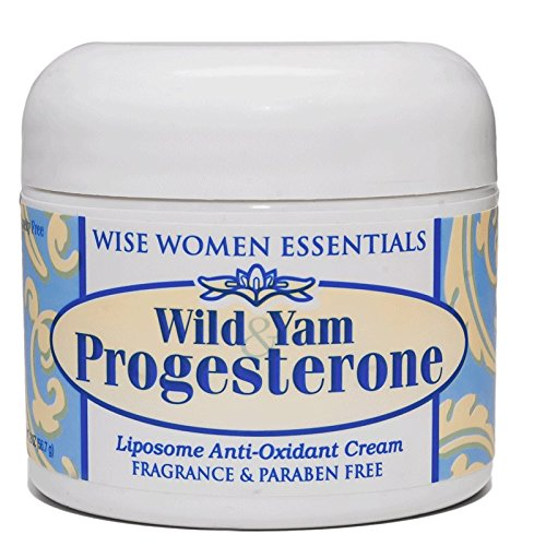 Wild Yam & Progesterone Cream Non Toxic - For Menopause and Mid life Changes. 2 oz - Paraben Free - Fragrance Free - Wise Essentials 2 Jars pack