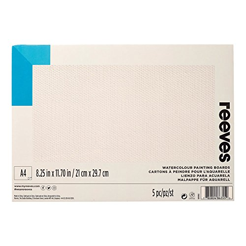 (Reeves Water-Colour Paint Board, A4 - Pack of 5)