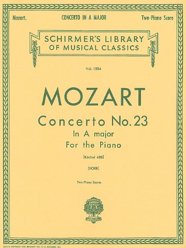 Concerto No. 23 in A, K.488: National Federation of Music Clubs 2014-2016 Selection Piano Duet (Schirmer's Library of Musical Classics) (Mozart Violin Concerto No 2)