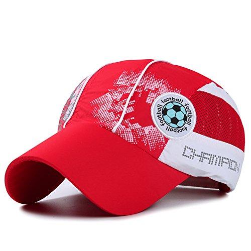 Home Prefer Kids Toddlers Lightweight Quick Dry Sun Hat UPF50+ Mesh Baseball Hat (Red)
