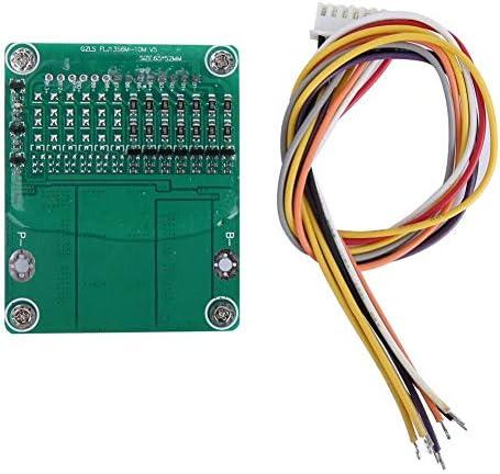 7S 24V Li-Ionen-Schutzplatine, 25A 500W Li-Ionen-Lithium-Batterie-Schutzplatine BMS-Platine mit Waage
