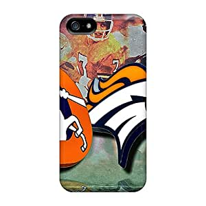 DannyLCHEUNG Iphone 5/5s Protective Cell-phone Hard Covers Customized Vivid Denver Broncos Pattern [KQF17991AbmU]