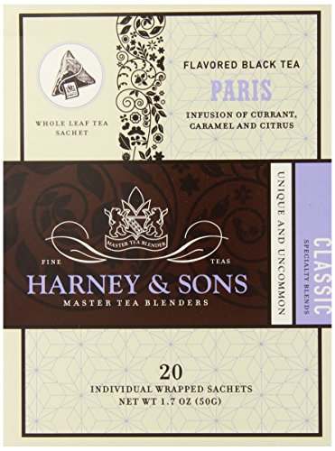 Harney & Sons Black Tea, Paris, 20 Tea Bags (Pack of 6)