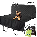 Dog Car Seat Cover for Cars Truck SUV, Seat Protective Pet Hair Dirt Durable Scratch-Proof Waterproof Pet Friendly BackSeat Hammock Travel Comfort Nonslip, Quilted Easy Clean Dog Seat Belt Pet Towel