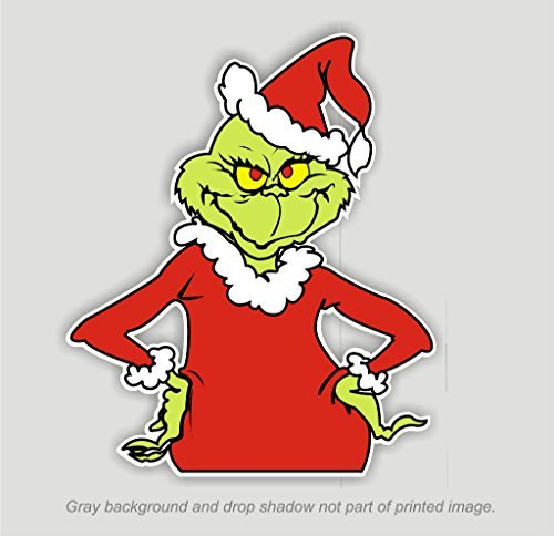 Grinch that Stole Christmas Sticker Decal Dr. Seuss Outdoor Durable 4.5t x 3.75w (Grinch Stickers)