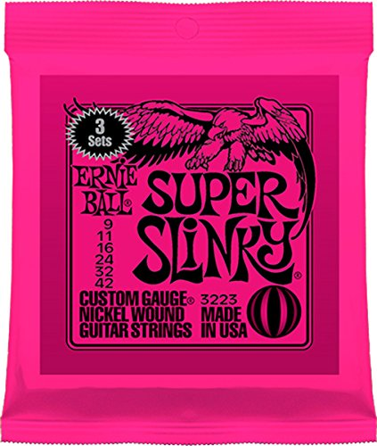 Ernie Ball Super Slinky Nickel Wound Sets, .009 - .042