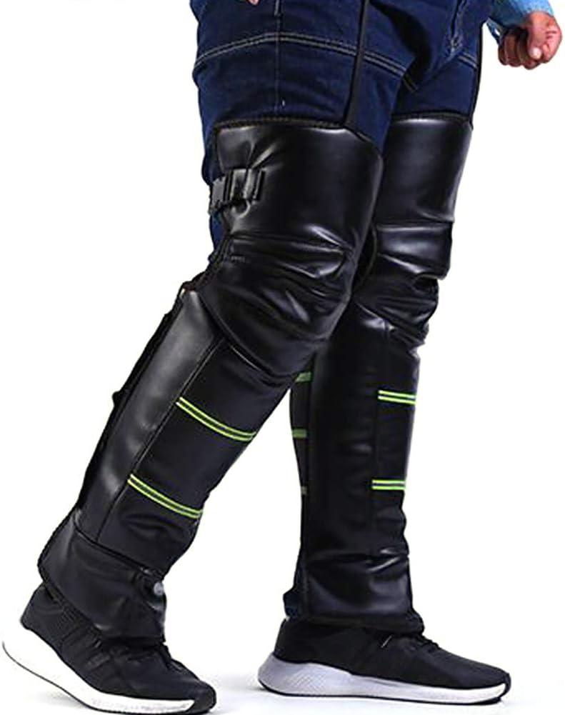 Tama/ño-L 1 par de rodilleras de cuero protector de la rodilla prepara m/óvil Shin-ajustable mantener caliente rodillas-invierno el viento de nieve bici al aire libre Deportes 70 cm // 27,6 pulgadas