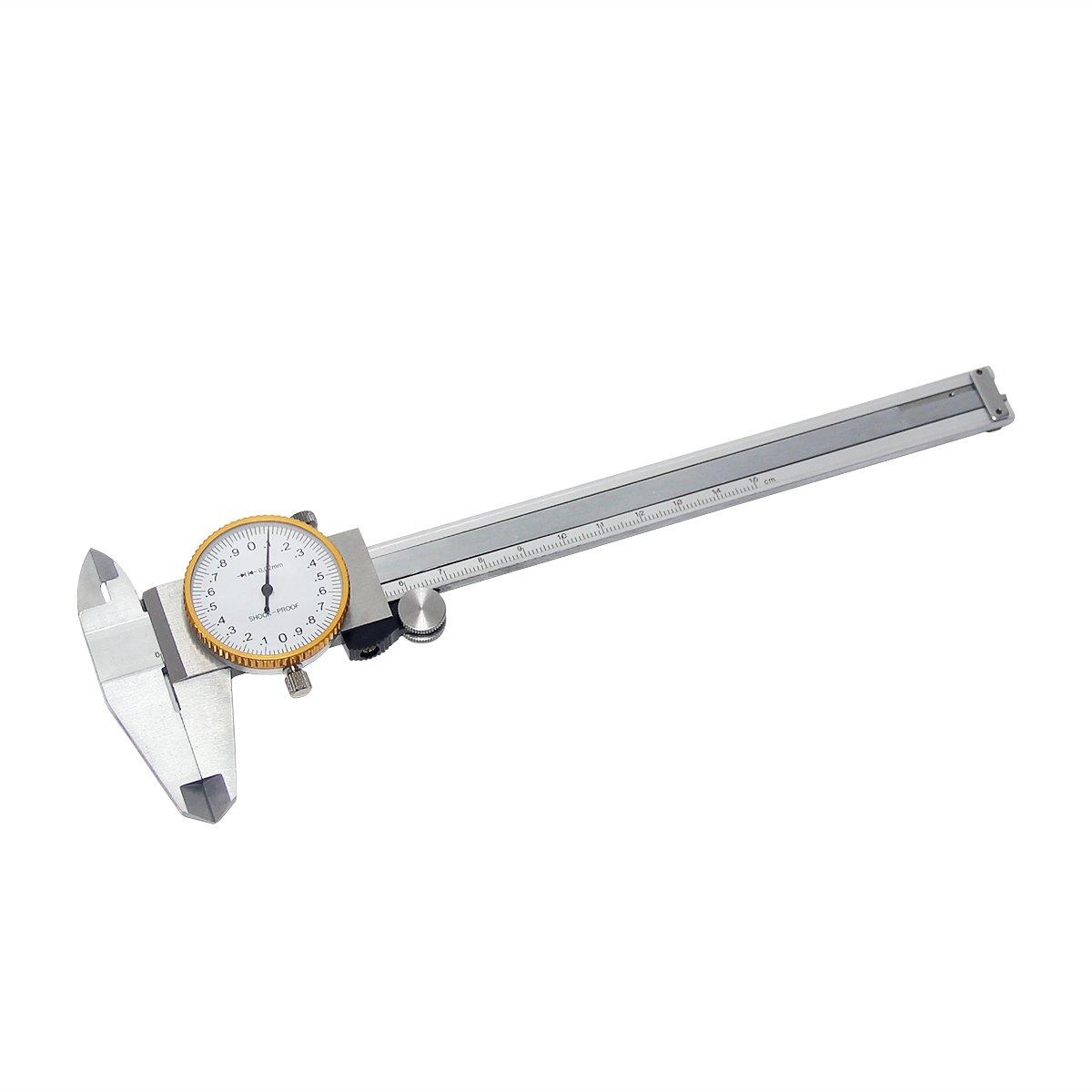 Wisamic Cadran coulissant balance Pied /à coulisse 0 150/mm avec bo/îte en plastique de stockage