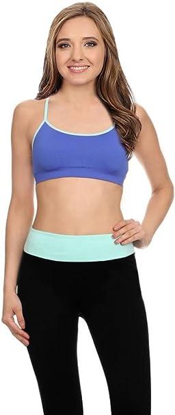 Yoga Bra Racerback, Multi Strap Bra Sports Bralette, Wireless Bras for Women
