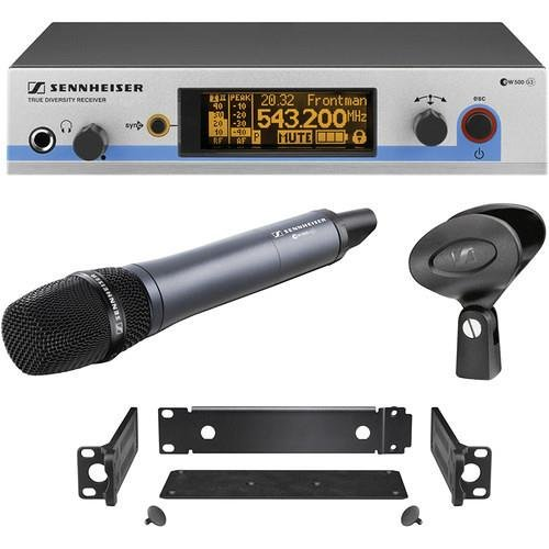 Sennheiser EW 500-965 G3 Wireless Microphone System, Includes EM 500 Rack-Mount Receiver, SK 500 Handheld Transmitter with E965 Capsule and GA 3 Rack Mount Kit (Frequency Band A1: 470 to 516 MHz)