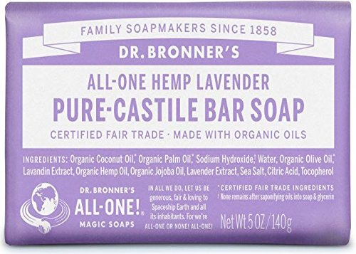 Dr. Bronner's Magic Soap Lavender Bar Soap, 140-Gram Dr. Bronner' s Magic Soap 732
