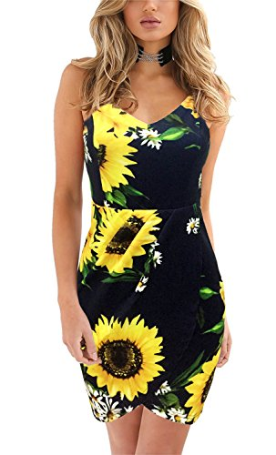 Yikomi-Womens-Elegant-Straps-Deep-V-Neck-Sleeveless-Floral-Summer-Casual-Bodycon-Party-Dress