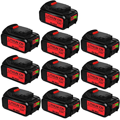 10 paquetes de iones de litio de 5,0 Ah DCB205 de repuesto para batería Dewalt 20 V DCB200 DCB206 DCB206-2 DCB204 DCB203 DCB201