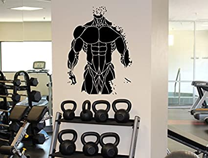 Amazon fitness gym muscles wall decal athletic sport wall