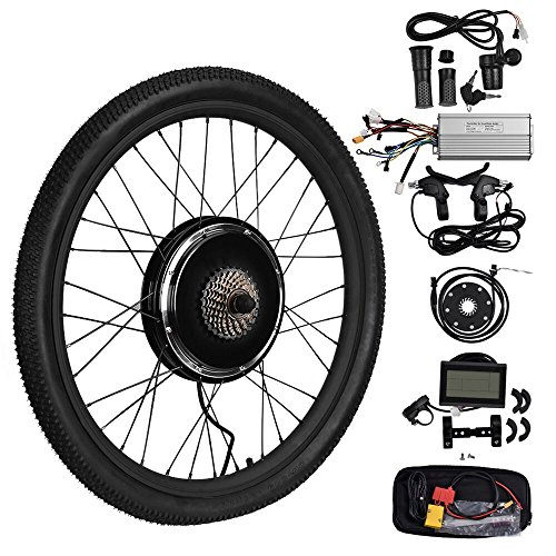 "26/"" Front//Rear Wheel 36//48V Electric Bicycle E-bike Conversion Kit Cycling Motor"