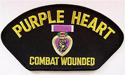 Amazon.com  PURPLE HEART (COMBAT WOUNDED) EMBLEM BLACK PATCH(Can be ... f1c52744dbe