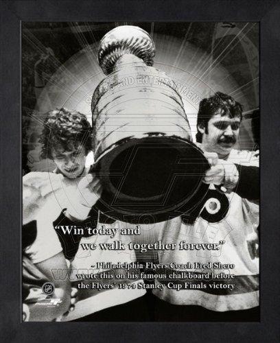 Philadelphia Flyers Photo File (Bernie Parent, Bobby Clarke Philadelphia Flyers Pro Quotes Framed 8x10 Photo)