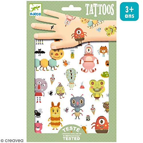 Monsters Metallic Tattoos by Djeco