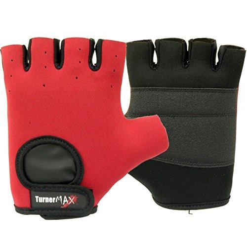 TurnerMAX Weight Lifting Gloves Neoprene Red Medium