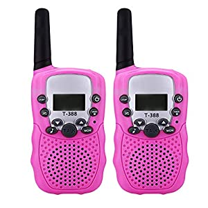 VKOSHA Walkie Talkies , Kids Toy Talkies 2 Way Radios Handheld with Backlit LCD Flashlight , Rechargeable Batteries , 22 Channel Long Range Kids Camping Hiking Children Birthday 2 Pack