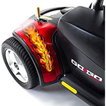 Red Flame STICKERS DECAL for Pride Mobility Go-Go Travel Scooter
