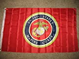 3X5 Usmc Marine Corps Seal Crest Double Sided 2Ply Flag Brass Grommets