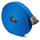Blue 1.5'' x 50' Double Jacket Fire Hose with Aluminum NH Couplings
