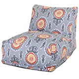 Majestic Home Goods Michelle Bean Bag Chair Lounger, Citrus