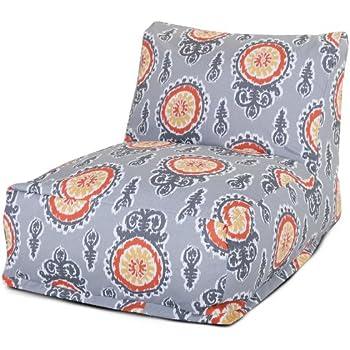 Majestic Home Goods Michelle Bean Bag Chair Lounger Citrus