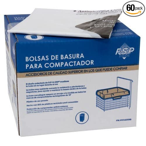 Whirlpool W10165294RB 15-Inch Plastic Compactor Ba, Pack of 60