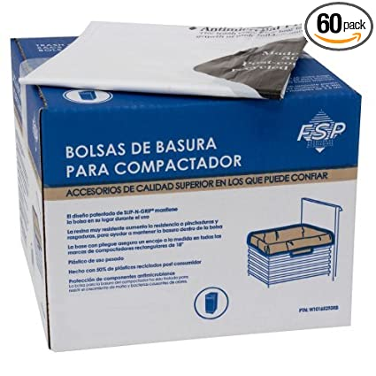 Whirlpool W10165294RB 11780005644 Trash Compactor Bags, 60-ct