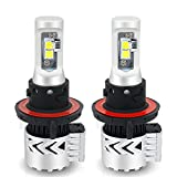 TURBOSII H13 9008 Led Headlight Bulbs 6500K 12000LM High/Low Beam CREE Chip Conversion Kit W/ Anti Flicker Error Free Canbus Decoders HID Halogen Headlight Replacement for Ford F150 F250 Focus Dodge