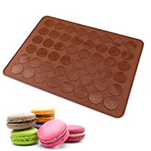 New Arrival Silicone 48-Cavity Muffins Almond Round Cakes Tools Pastry Macaron Baking Sheet Mat Large Cookie Decorating Tools