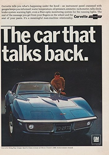 Vintage Ad Car (1968 CHEVROLET CORVETTE STING RAY COUPE