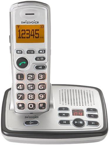Swissvoice SP450 Schnurloses Gro/ßtastentelefon mit integriertem Anrufbeantworter und optischer Anrufsignalisierung DECT