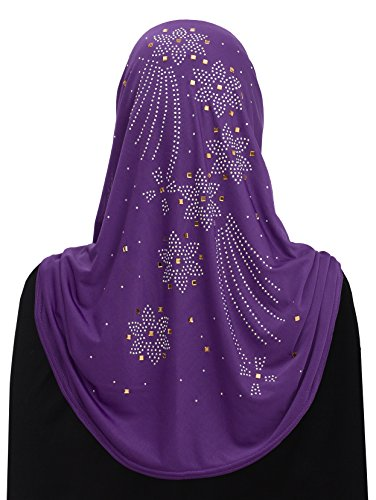 Al Amira Aiyah Hijab Ultra Silky Lycra in Fire Flower Design - Shops Mall Aurora