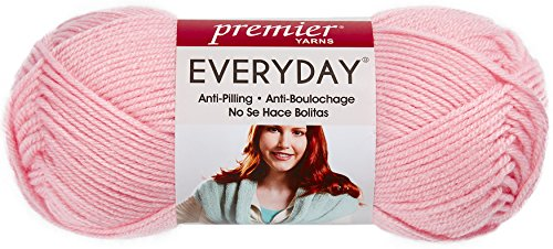 Premier Yarns DN100-06 Solid Deborah Norville Everyday Soft Worsted, Baby Pink