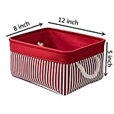 TcaFmac Small Red Fabric Storage Baskets for Gifts