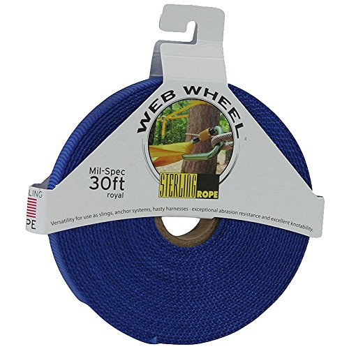 STERLING 1'' TechTape Web Wheel 30' Royal Blue One Size by Sterling Ropes