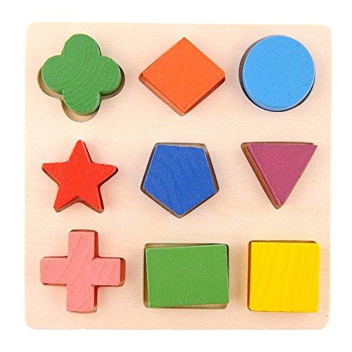Kinder Baby Kinder Geometrie Form aus Holz Stapeln Baustein Spielzeug lernen früh pädagogischen Hirnforschung Ausbildung geistiges Spiel Jigsaw Puzzle