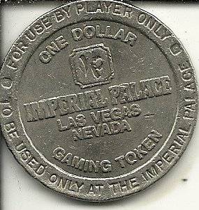 $1 imperial palace casino token coin las