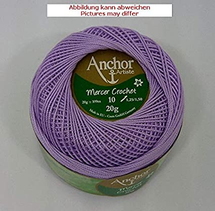 Uncinetto filati Anchor Mercer Crochet 20 G St. 10 lilla FB ...