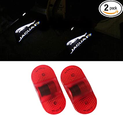 LIKECAR 2pcs Car Shadow Light Welcome Logo Door Light