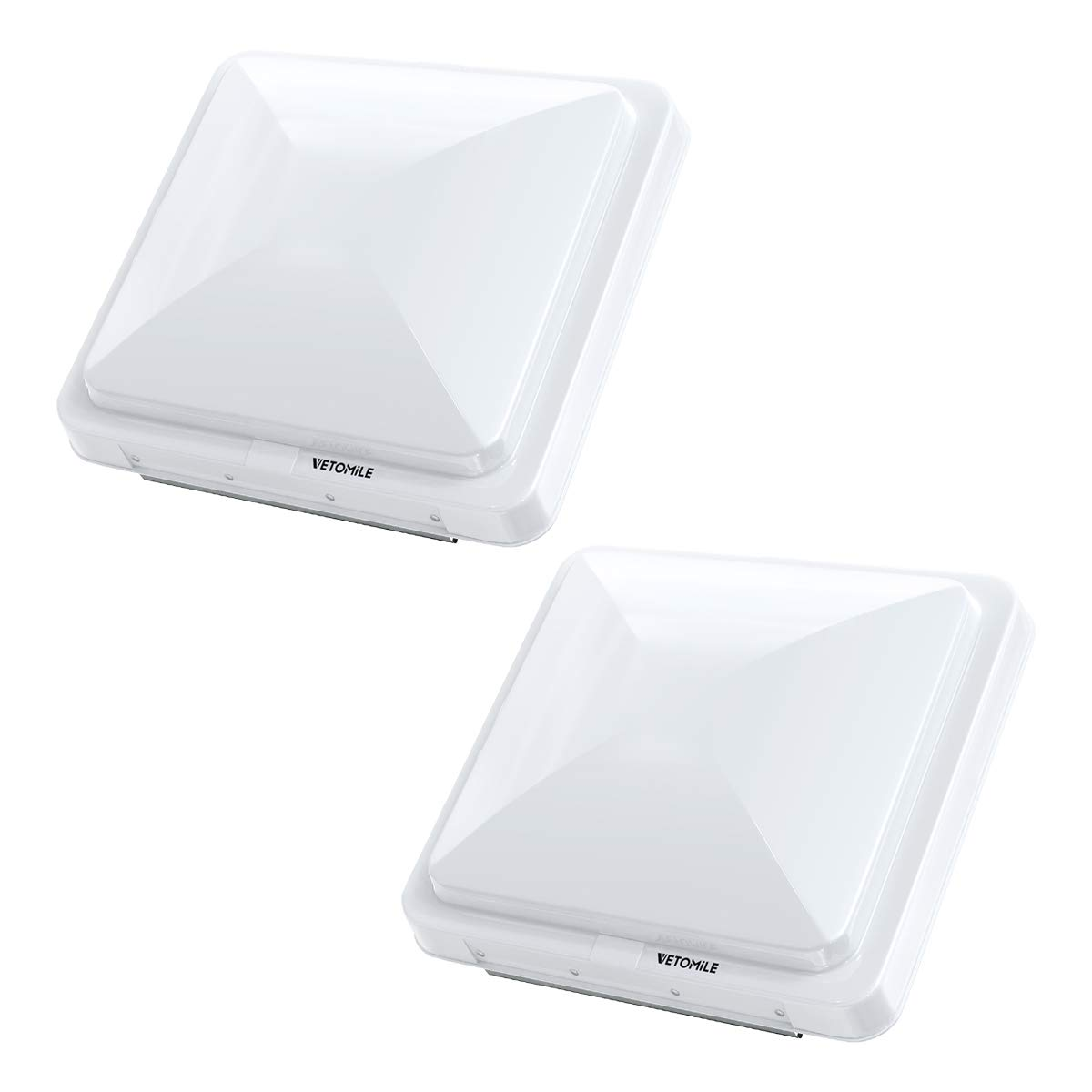 VETOMILE RV Roof Vent Lid Cover 14 inch Universal White Cover Lid for Motorhome Trailer RV Camper 2 Pack