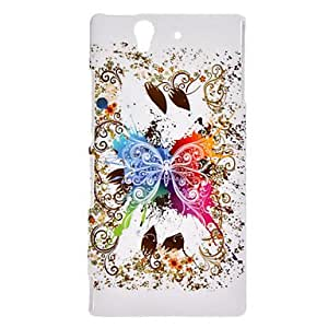 Big Butterfly Pattern Hard Case for Sony Xperia Z L36h