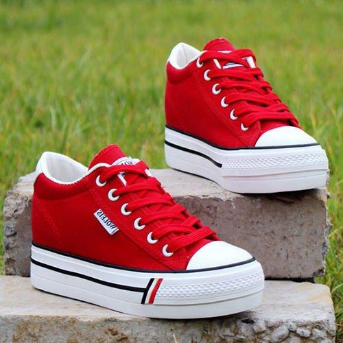 Casual red Damen Schuhe Spitze Plattform Damen Schuhe Leichte Damen Schuhe amp;G Canvas Sneaker NGRDX OWvwBq6B