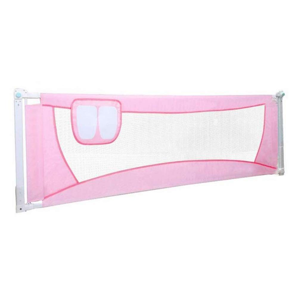 GXYAWPJ 子供用ガードレール、赤ちゃんの安全性高いベッドガードレール垂直吊り下げ式赤ちゃん落下防止折りたたみ式、ピンク(サイズ:120-200cm) (色 : ピンク, サイズ さいず : 1.2m) 1.2m ピンク B07RSH2WPX