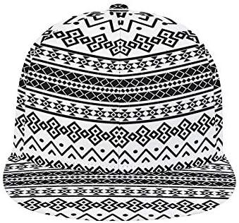 yyone Bohemian Colored Graffiti Adult All-Print Flat Rubber Baseball Cap, All-Polyester Twill, Adjustable Hat Circumference 57-60cm