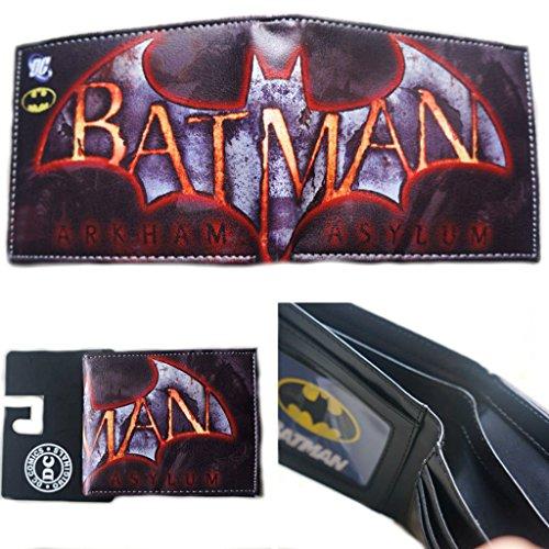 J&C DC Comics Batman Logo Arkham Asylum Bi-fold Men's Boys Wallet